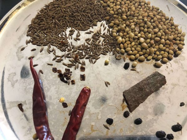 Gather the spices for roasting/powdering